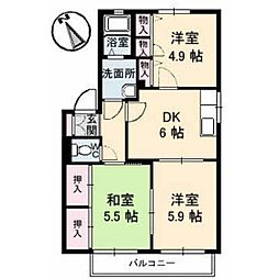 コートタウン錦[C201号室]の間取り