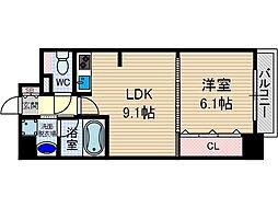 ソラージュ茨木[6階]の間取り