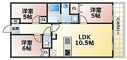シャルマンフジスマート吉田駅前ステーションブライト[4階]の間取り
