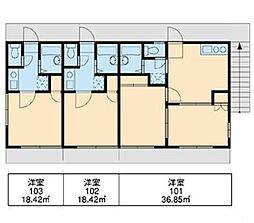 新検見川第4[2階]の間取り
