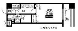 東京都台東区池之端2丁目の賃貸マンションの間取り