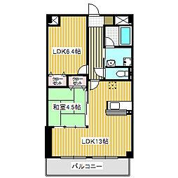 愛知県名古屋市中川区好本町1丁目の賃貸マンションの間取り