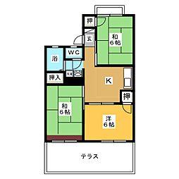 愛知県名古屋市名東区勢子坊4丁目の賃貸アパートの間取り