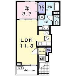 スマイルタウン D棟[1階]の間取り