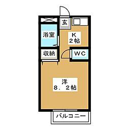 ベルシンフォニーC棟[2階]の間取り