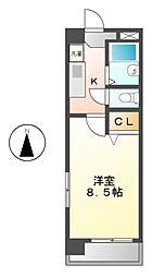 愛知県名古屋市西区新福寺町1の賃貸マンションの間取り