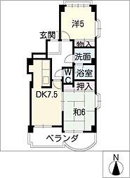 ゆきマンション[3階]の間取り