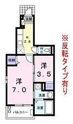シーサイドビレッジ B棟[1階]の間取り