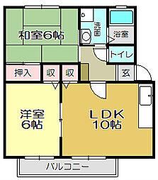 コーポ横代A棟[2階]の間取り