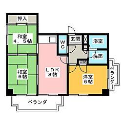 アスト鴻ノ巣[2階]の間取り
