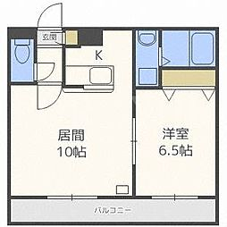 北海道札幌市白石区本通2丁目北の賃貸マンションの間取り