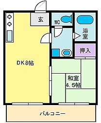 コーポ乙黒[2階]の間取り