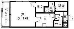 静岡県浜松市東区中野町の賃貸マンションの間取り