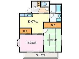 シルバーハイツ山室[1階]の間取り