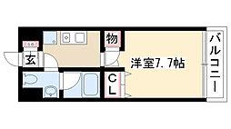 愛知県名古屋市南区西桜町の賃貸マンションの間取り