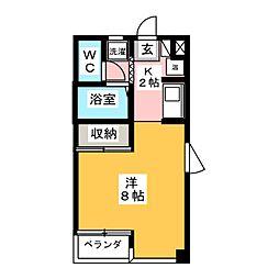メゾンドキャッスル[4階]の間取り