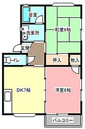 すずらんトヨダ2[1階]の間取り