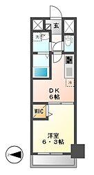 メイボーテセラ(MEIBOU TESERA)[6階]の間取り