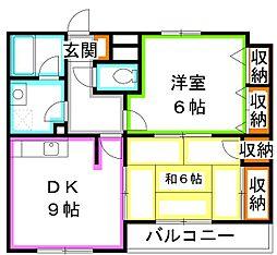 アパートメントハウス・ダニエリ[3階]の間取り