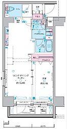 ジェノヴィア東神田グリーンヴェール 3階1LDKの間取り