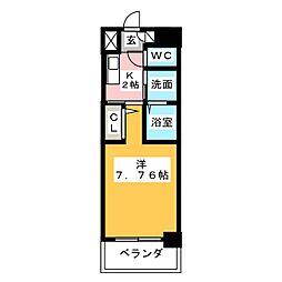 ArtizA東別院[5階]の間取り