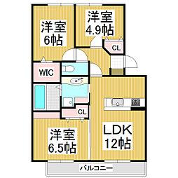 ルミエール藤崎[2階]の間取り