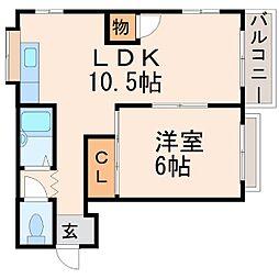 ベラカーサ夙川[2階]の間取り