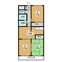 エスパース21[1階]の間取り