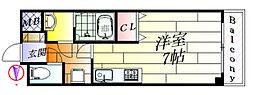 ミル・コリーヌ[4階]の間取り