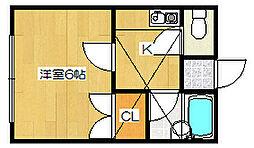 新潟県新潟市中央区蒲原町の賃貸アパートの間取り