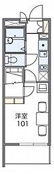 レオパレスサニーハウス[3階]の間取り