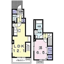 小田急江ノ島線 湘南台駅 バス17分 石川橋下車 徒歩1分の賃貸アパート 1階1LDKの間取り
