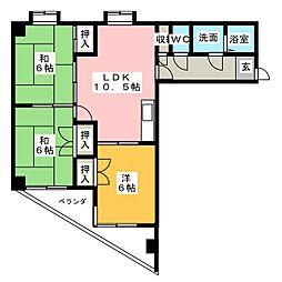 日映マンションII[10階]の間取り