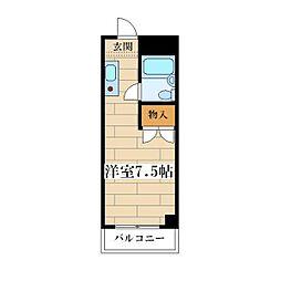 新北野プラザ[2階]の間取り