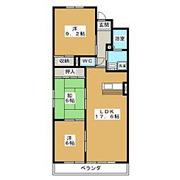 ラ・ポルト93[2階]の間取り