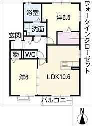 シャンクス[2階]の間取り