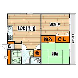 メゾン坂本[2階]の間取り