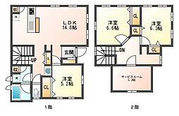 [一戸建] 福岡県福岡市中央区地行2丁目 の賃貸【/】の間取り
