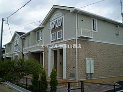 岡山県岡山市南区新福2丁目の賃貸アパートの外観