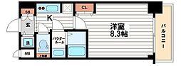 サムティ本町橋2MEDIUS[8階]の間取り