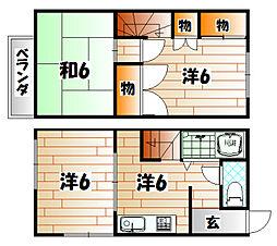 柳井メゾネット[2階]の間取り