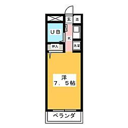 BELLE TOPIA稲沢4[3階]の間取り