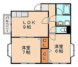 ローテンブルクハウス[2階]の間取り