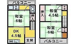 柴田住宅 1階3DKの間取り