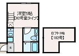 JR中央線 高円寺駅 徒歩6分の賃貸マンション 1階ワンルームの間取り