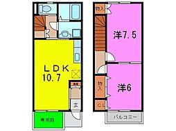 [テラスハウス] 愛知県東海市名和町三ツ屋 の賃貸【/】の間取り