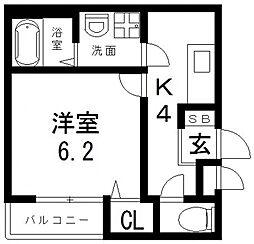 仮称)足代南2丁目マンション[302号室号室]の間取り