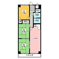ラメゾンクレール[2階]の間取り