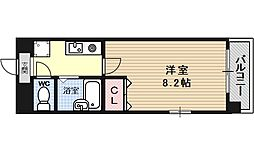 カーサ椥辻[401号室号室]の間取り