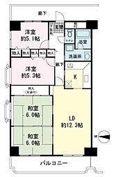 パスコグランドマンション新沼津[4階]の間取り